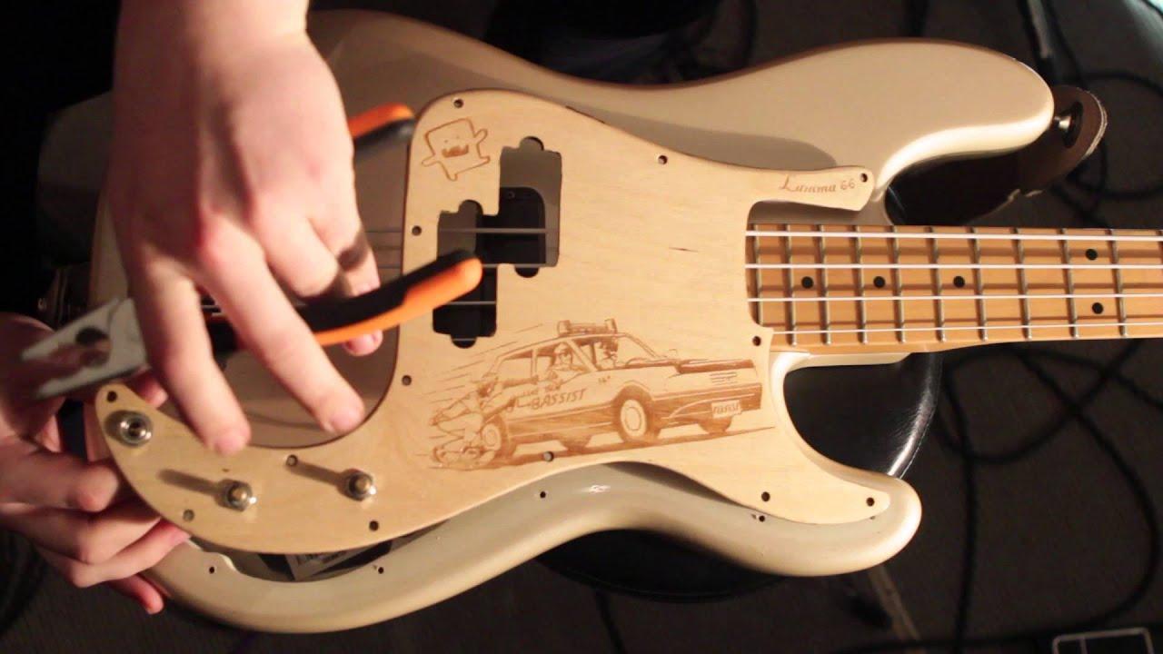 Fender Bass Vi Wiring Diagram Fender Precision Bass Pickguard Comparison Youtube