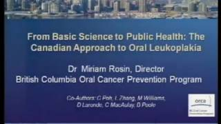 2010 AACR  Frontiers in Cancer Prevention Research: Dr. Miriam Rosin