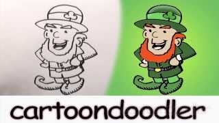 How to draw a Leprechaun. How to draw a St. Patrick's Day Leprechaun.