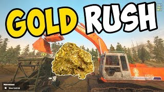 HIRING WORKERS, EXCAVATOR & MOBILE WASH PLANT!! - Gold Rush: The Game Gameplay - Episode 4