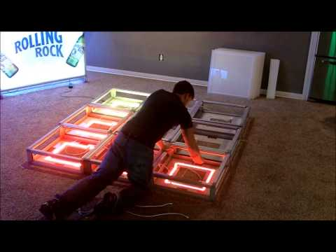 10 Minute LED Lighted Portable Dance Floor Assembly