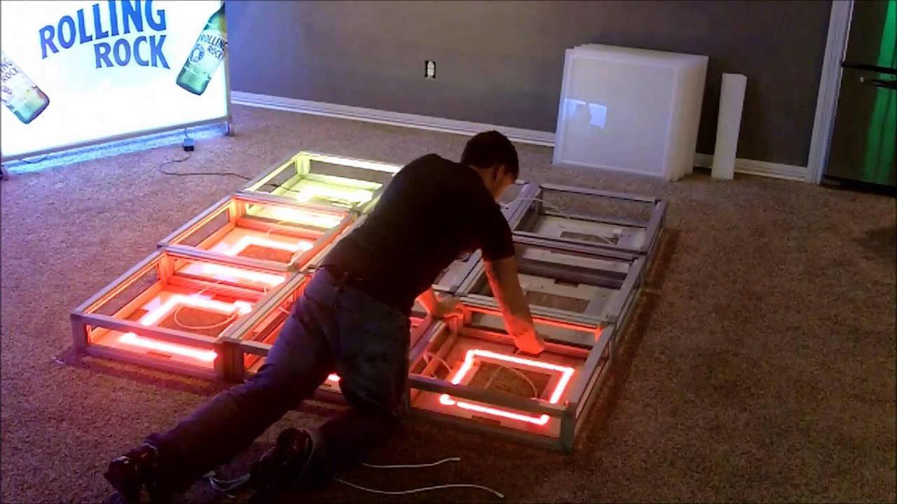 10 minute led lighted portable dance floor assembly youtube solutioingenieria Images