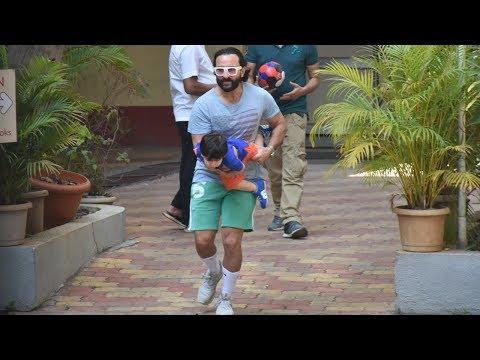 Taimur Ali Khan In Fun Mood With Dad Saif Ali Khan Snapped Playing In Garden Mp3