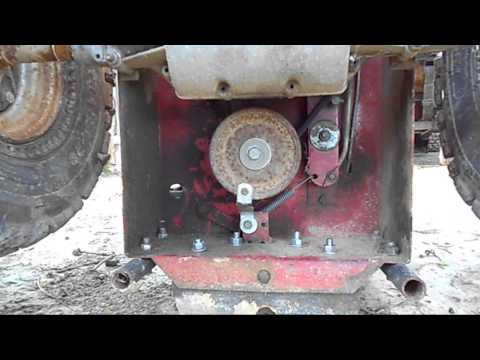 How to: pulley swap your lawn mower engine the easy way. (20 min job) | FunnyDog.TV