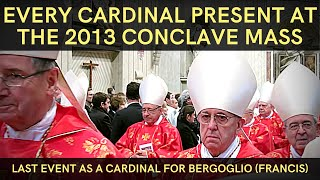 Opening Conclave Mass 2013 | Bergoglio (Pope Francis) last public event as a Cardinal