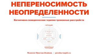 Непереносимость Неопределенности при тревожных расстройствах — Когнитивная модель (Ярослав Исайкин)