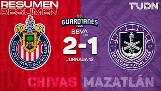 Resumen y goles | Chivas 2-1 Mazatlán | Guard1anes 2020 Liga BBVA MX - J12 | TUDN