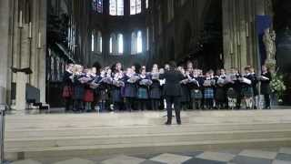 Fettes College Choir Tour 2015 - Lift My Eyes - Notre Dame Cathedral