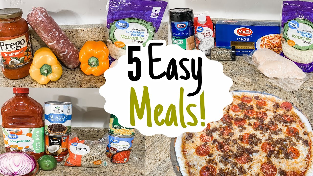 What's For Dinner? 5 Easy & Cheap Meals! | Julia Pacheco