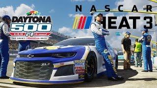 NASCAR Heat 3 Daytona Gameplay and Commentary