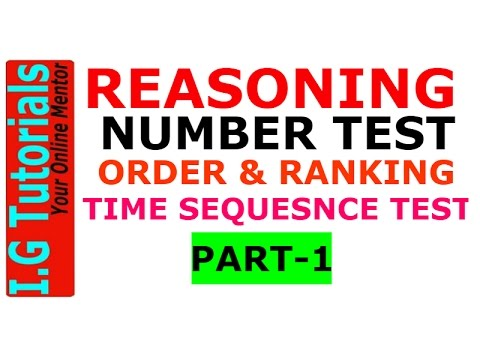 Number Test & Time Sequence test Reasoning -1|IBPS PO & Clerical|SBI PO and Clerical