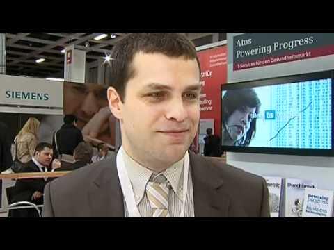 Christos Gavrilis, Analyst i.s.h.med, Siemens AG auf der conhIT 2012 in Berlin