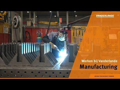 Werken in de fabriek van Vanderlande in Veghel (NL)
