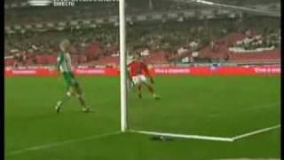 Mantorras goal. Benfica Lisboa - Rio Ave 1:0