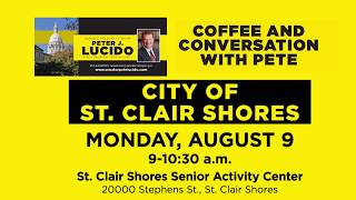 Sen. Lucido to host Coffee Hours on August 9