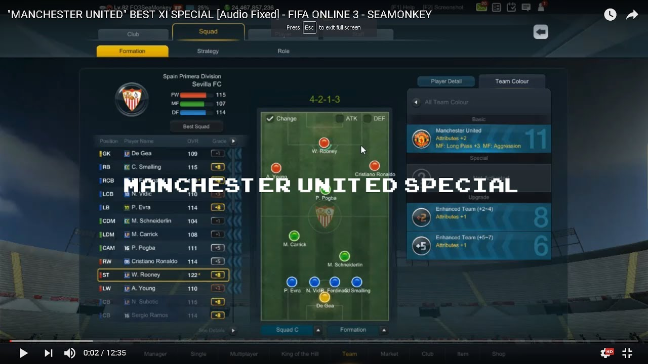 Fifa Online  Manchester United Best Squad