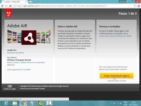 Como Baixar Adobe-Adobe AIR pra transformice