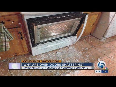 Shattering oven doors