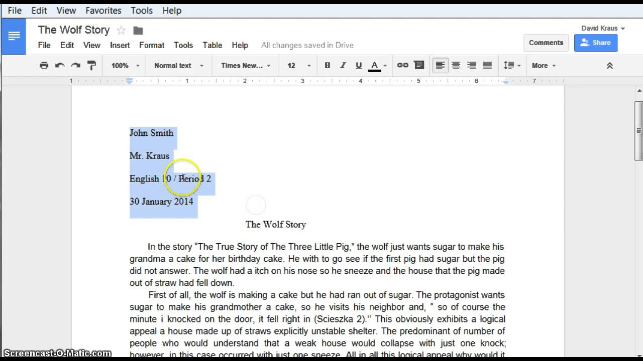 how to do mla formatting