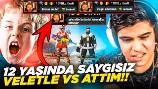 12 YAŞINDA SAYGISIZ VELETLE VS ATTIM BENİ POMPALADI!! | PUBG Mobile