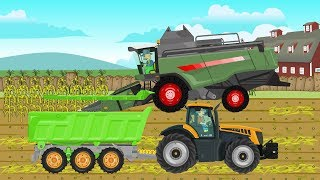 the Tractor | The tale of farmes | Combine harvester for babies | Bajki Traktory dla dzieci