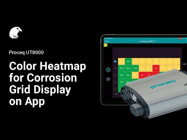 Heatmap Mode on Corrosion Grid | Proceq UT8000