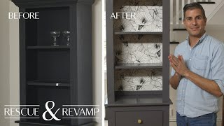 We Transform a 25 year-old Hutch into a Modern Home Bar - Rescue & Revamp - Martha Stewart