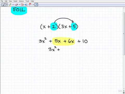 Use FOIL Method to Multiply Polynomials Algebra