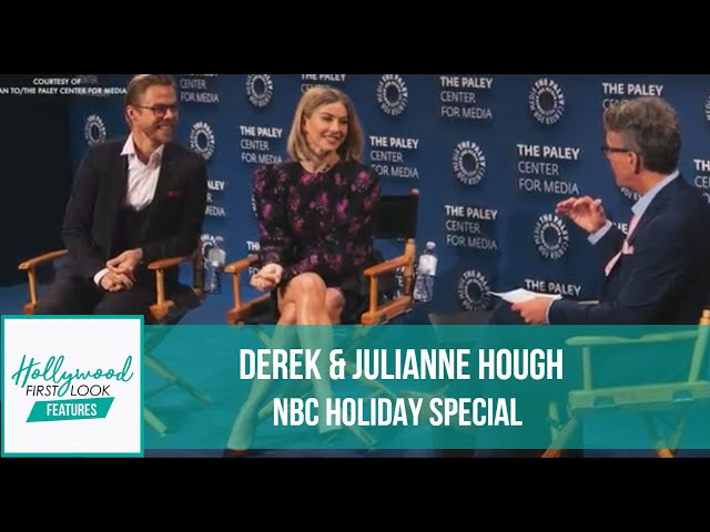 DEREK & JULIANNE HOUGH (2019)   The duo chat about their NBC Holiday Special with AMY CASSANDRA