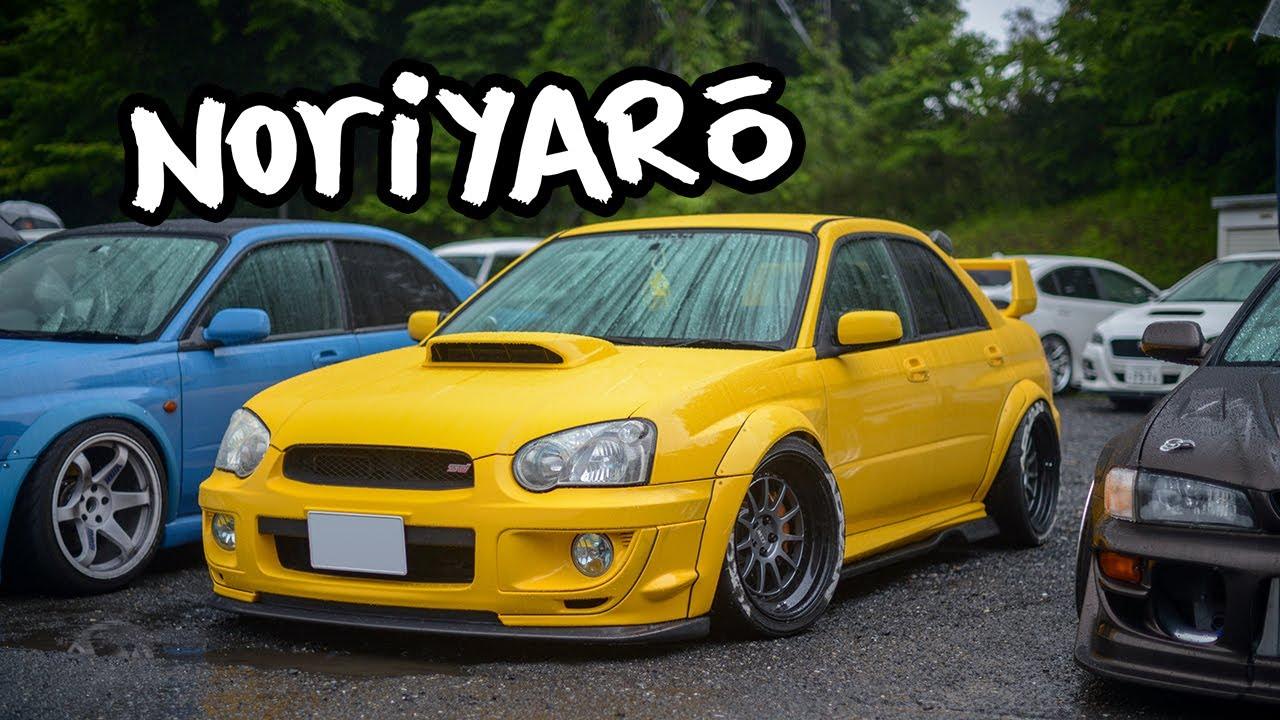 Subaru drifting show cars at Nikko Circuit