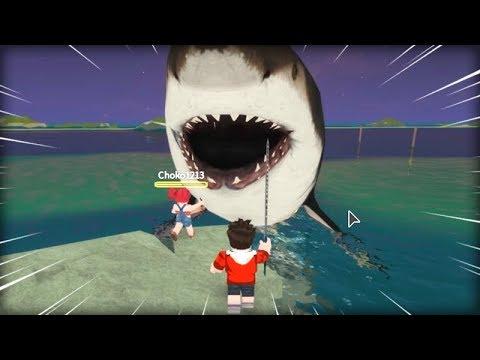 메가로돈을 잡았어요!! [세상에서 가장 큰 상어!] 로블록스 탁주 쪼꼬