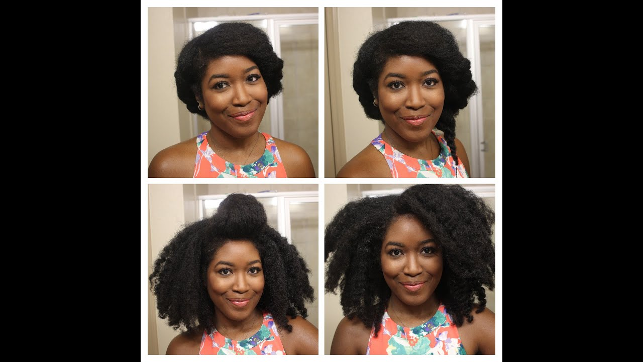 Heatless Summer Hairstyles On Natural Hair YouTube