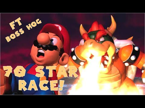 SUPER MARIO 64 70 STAR RACE!! FT Boss Hog