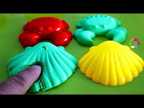لعبة الرمل السحرى والصلصال الرملى للبنات والاولاد تشكيل الاسماك افضل العاب السلايم والصلصال للاطفال