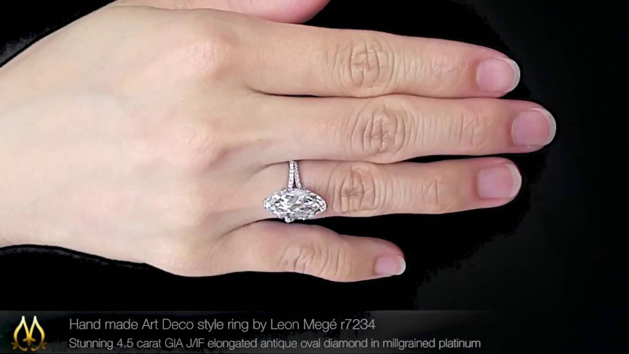 Hand made Art Deco style ring by Leon Megé r7234 - YouTube