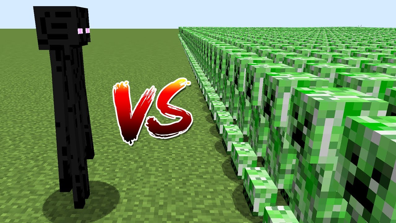 ENDERMAN VS 1000$ CREEPER ORDU - Minecraft