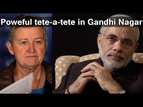 Nancy Powell & Narendra Modi pow-wow
