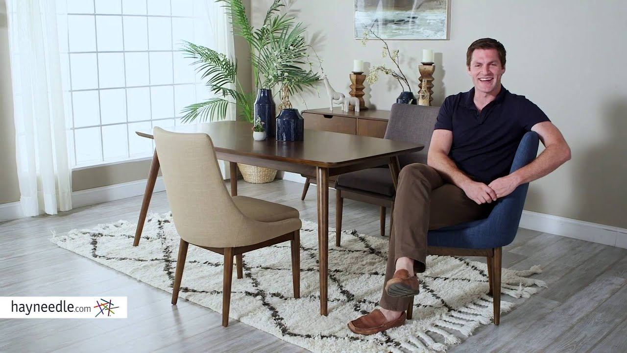 Belham Living Carter Mid Century Modern Upholstered Dining ...