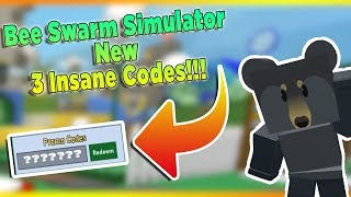 ALL NEW *3 INSANE CODES*IN BEE SWARM SIMULATOR 2019 ROBLOX