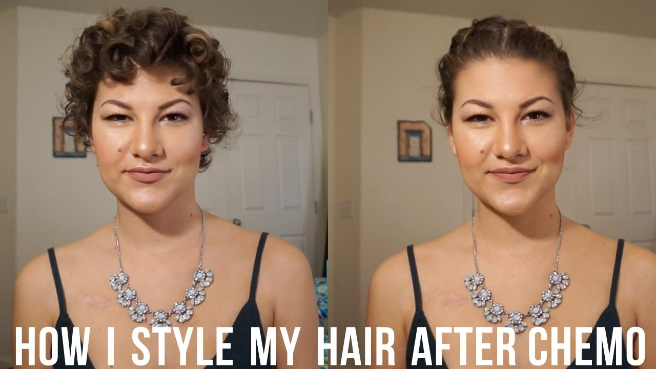 how to style hair during & after chemotherapy | chemo curls