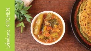 Murungakkai Puli Kuzhambu (Drumstick Curry Recipe) by Archanas Kitchen