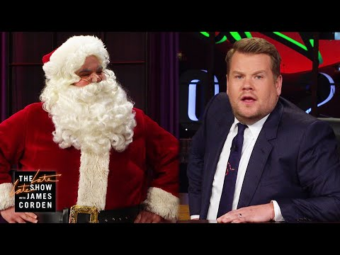 James Corden Pisses Off Santa Claus