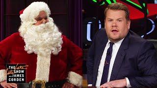 James Corden Pisses Off Santa Claus