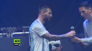 Lionel Messi launches Adidas 'Telstar 18' official Russia 2018 FIFA World Cup ball