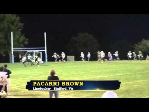 Pacarri Brown - Northern Virginia Kings Linebacker - Highlights - Sports Stars of Tomorrow
