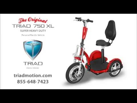 Electric 3 Wheel Scooter For Adults Triad 750 Xl Youtube