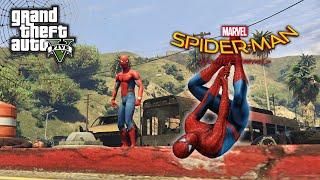 GTA 5 SPIDERMAN Far From Home MOD Ragdolls Fails Funny Moment - GTA 5 Live