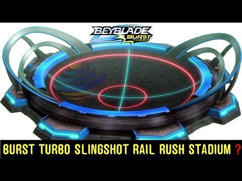 SLINGSHOT RAIL RUSH STADIUM NEW HASBRO BURST TURBO  IS THIS IT?