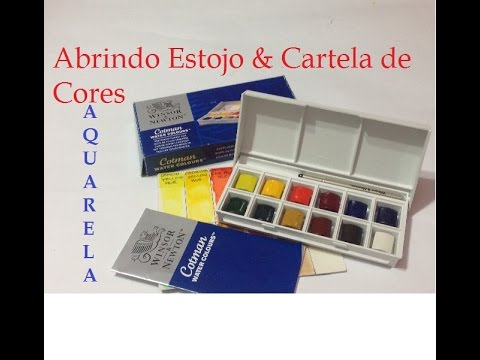 Aquarela - Abrindo Estojo & Cartela de Cores (Iniciantes) - Watercolor - Opening Case & Color Chart (Beginners) - VIDEO