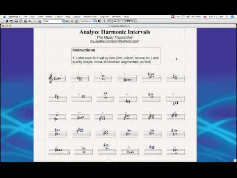 The Music Transcriber: Analyze Harmonic Intervals (software tutorial)